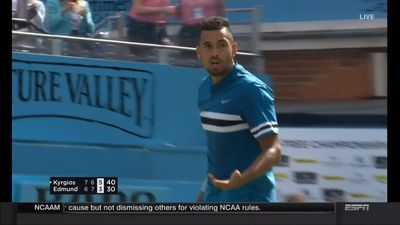 Kyrgios channels Federer in impressive win