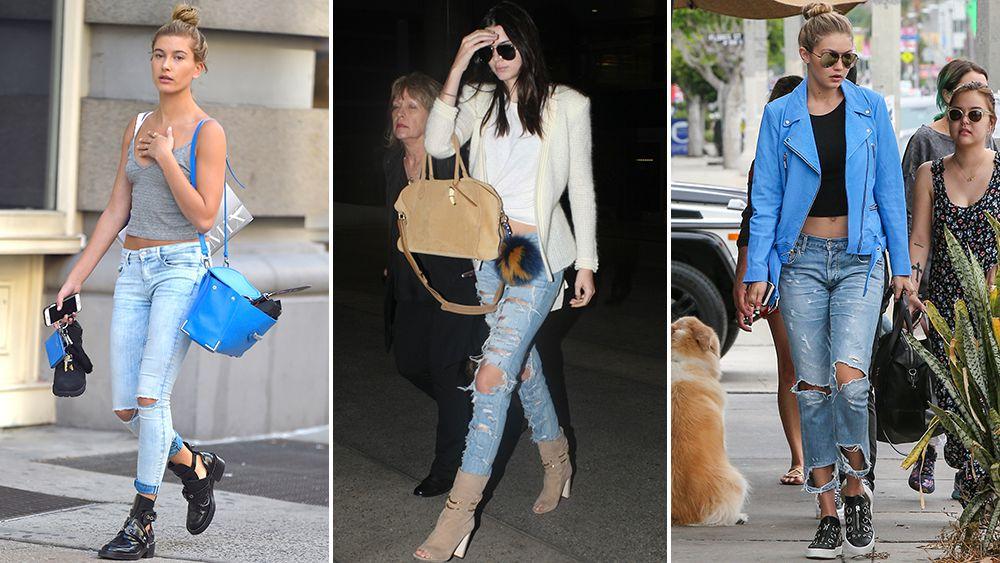 Still trending: ripped jeans