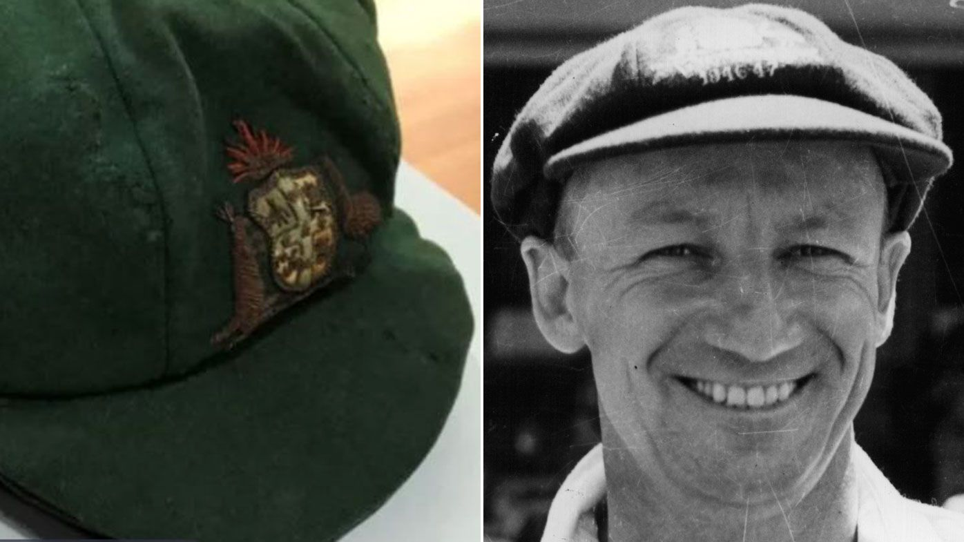 Donald Bradman baggy green auctioned as victims of $1.3m fraudster seek repayment