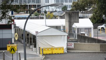 Westmead Hospital receiving bay for the Emergency Department.