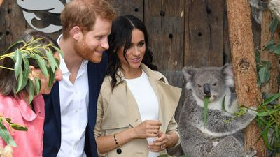 Meghan Markle and Prince Harry at Sydney's Taronga Zoo, Tuesday October 16 2018