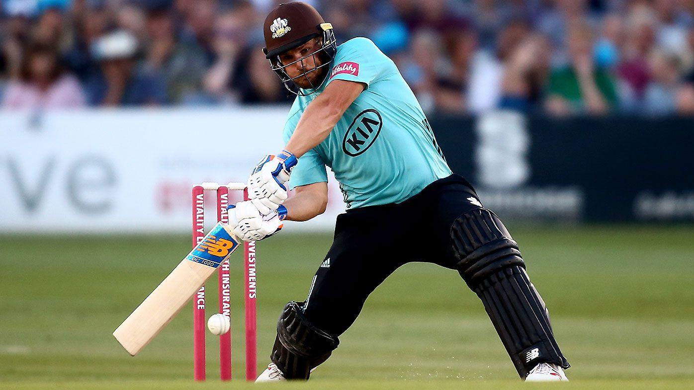 Aaron Finch breaks Surrey Twenty20 record in brutal unbeaten century