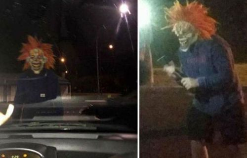 A reported clown sighting in western Sydney in 2016.