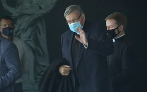 George Pell lands in Rome ahead of return to the Vatican for possible meeting with Pope Francis