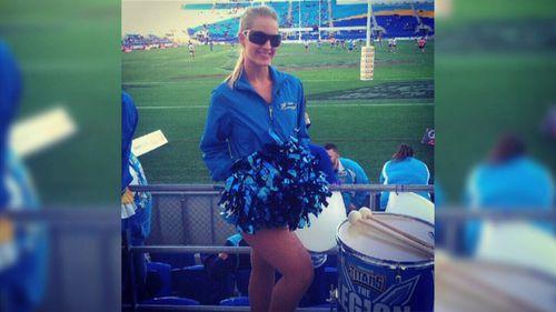 Bree was rehearsing as a Titans cheerleader.