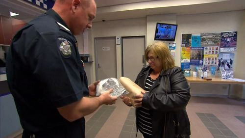 Police recovered the ashes of Adriana Buccianti's son following a break-in.