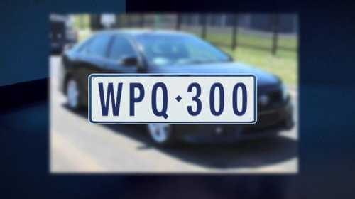 Police say the men fled up Monahans Road, then got into a second stolen car, a black Toyota Aurion registration WPQ300. (9NEWS)