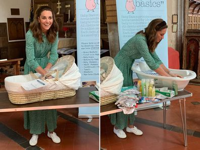 The Duchess of Cambridge at a private visit to Baby Basics West Norfolk in May.