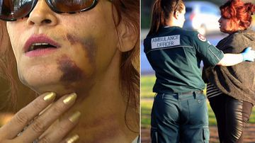 Grandmother bashed on beach over cigarettes