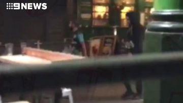 9RAW: Pubgoer films London terror suspects walking past