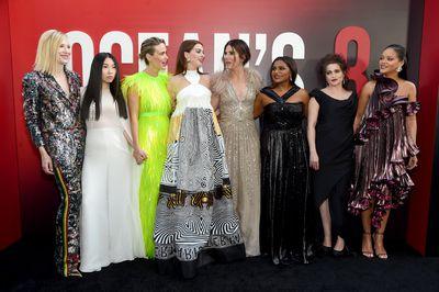 <p>The <em>Ocean's 8</em> cast at the New York film premiere, June, 2018</p>
