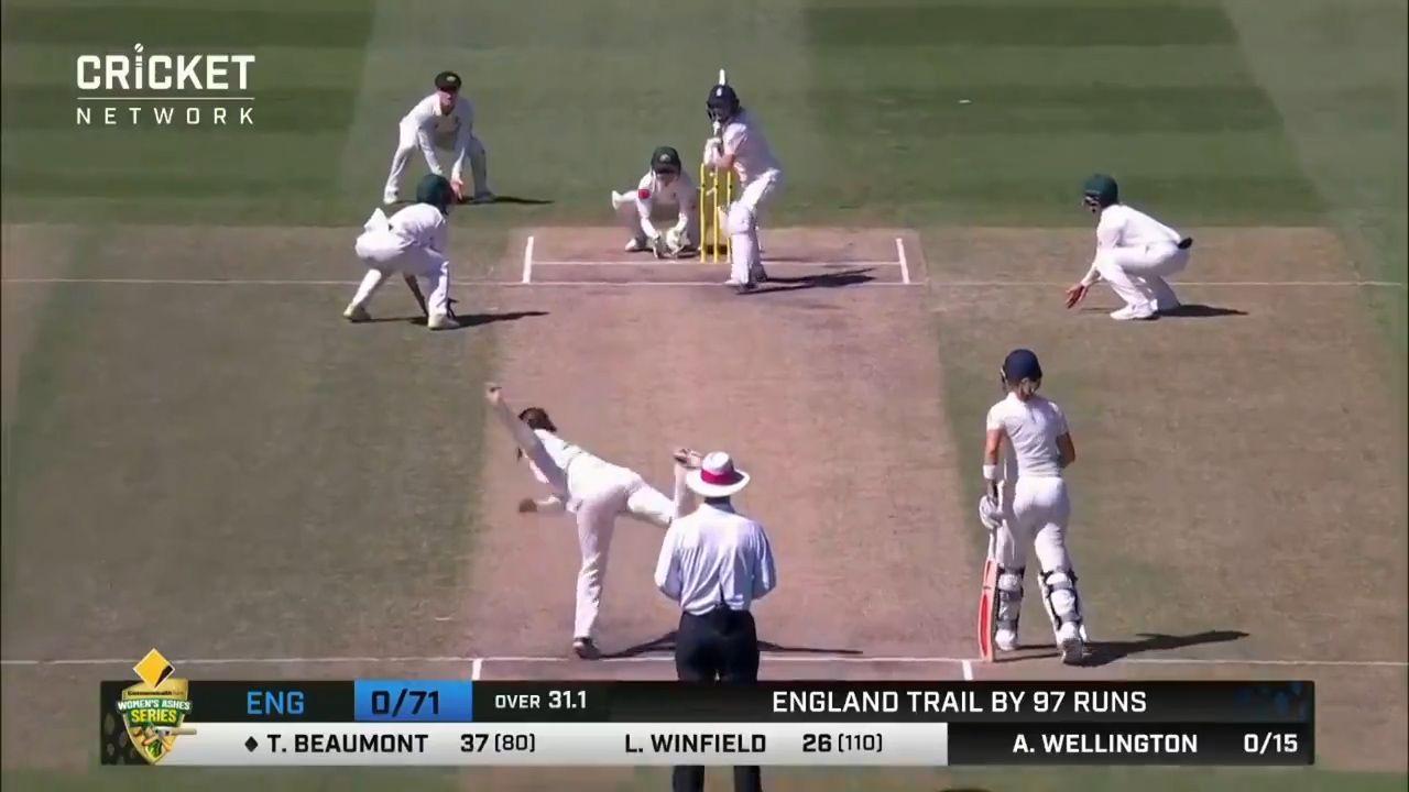 Wellington channels Warne in women's Ashes Test