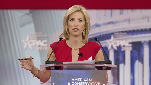 Laura Ingraham of Fox News speaks at the Conservative Political Action Conference in February 2018. (PA)