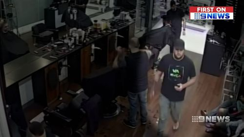 Michael Platts was waiting to get his hair cut when the robbery struck. (9NEWS)