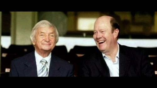 Much-missed: The late Richie Benaud and Tony Greig.