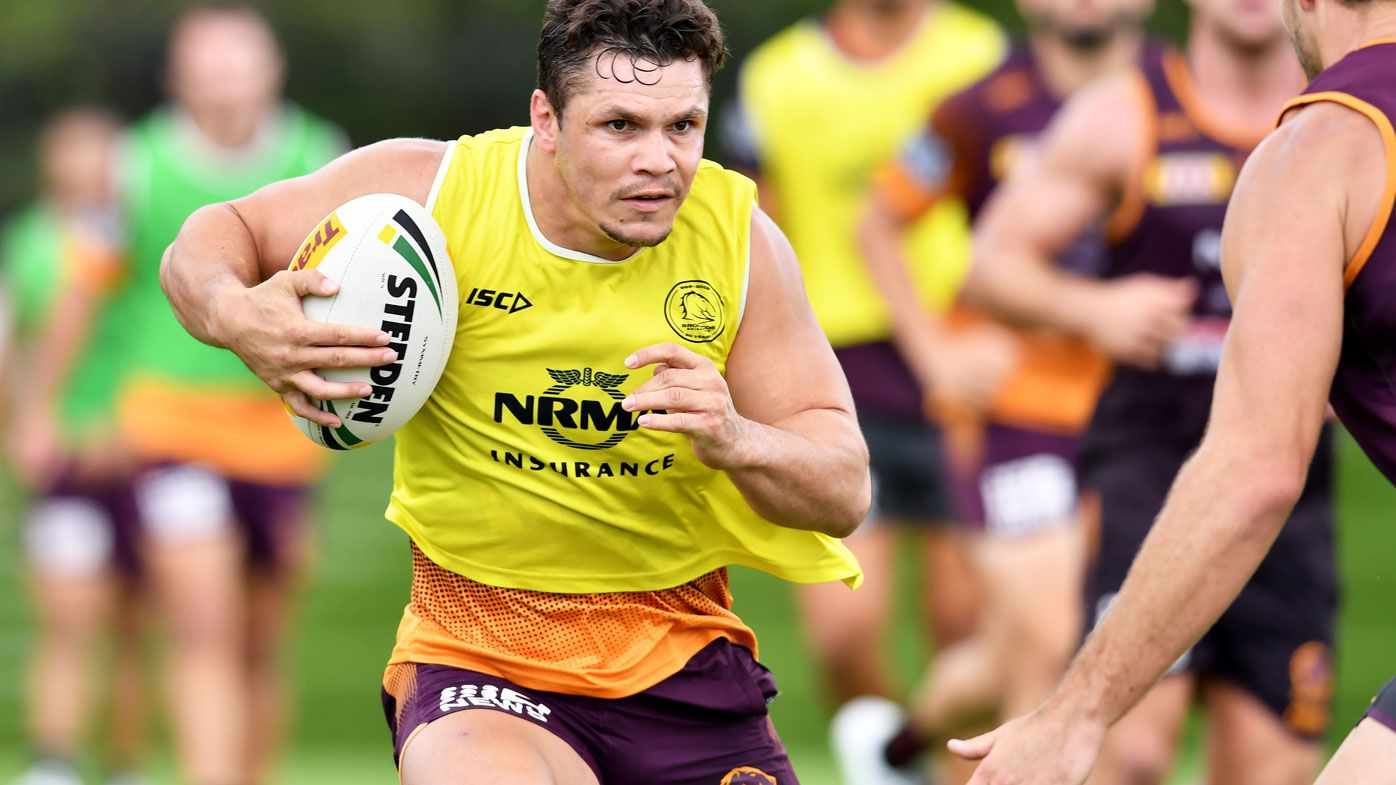 James Roberts trains with the Broncos