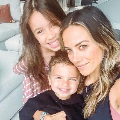 Jana Kramer, Mike Caussin, family, kids, selfie, photo, Instagram