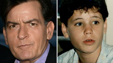 Charlie sheen accused of raping late child actor corey haim 9thefix charlie sheen 2013 and a young corey haim images getty thecheapjerseys Images