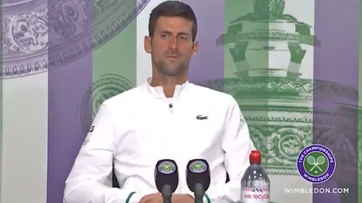 Wimbledon 2021: Novak Djokovic's perfect answer to 'appalling' question from journalist