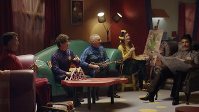 'The Wiggles' and Simon Cowell have joined forces for an Uber Eats ad.