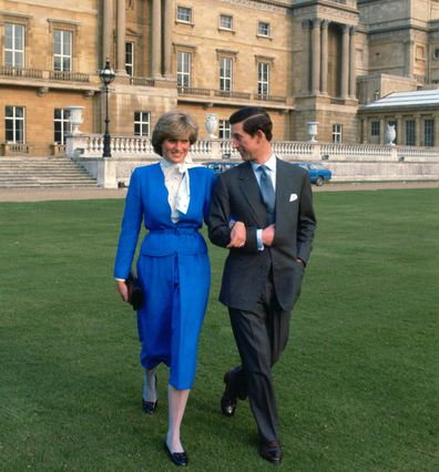 Prince Charles and Princess Diana announce engagement, 1981.