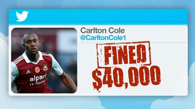 Despite denying his tweet was racist, he was fined $40,000.