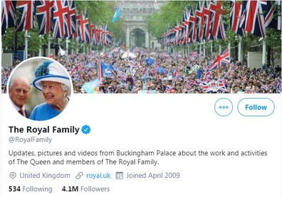 The Royal Family's official Twitter account
