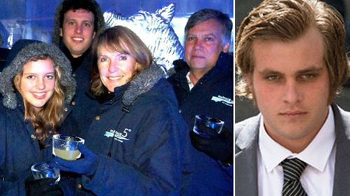 Henri van Breda, right, and the family members he is accused of murdering and attempting to murder. (Photos: AAP and Facebook).