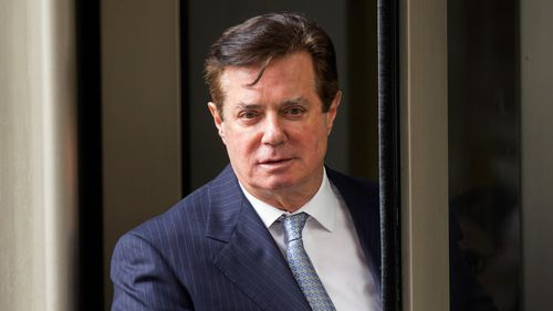 Manafort today was ordered into custody after a federal judge revoked his house arrest, citing newly filed obstruction of justice charges. Picture: AP