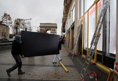 Hundreds of shops in Paris planned to shut their doors as well, preferring to lose business during the key holiday shopping period rather than have their windows smashed in and their merchandise looted.