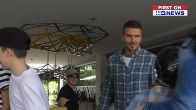 David and Victoria Beckham and their kids shock workers at NSW adventure park with surprise visit
