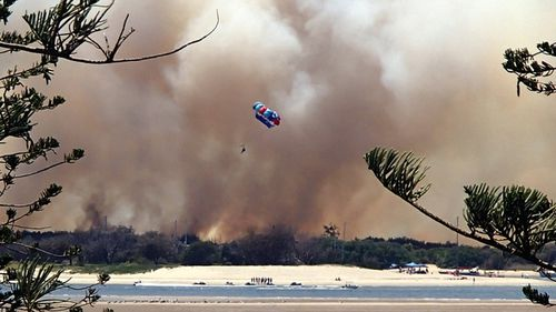 Smoke seen from Crystal Bay Resort. (Supplied / Tim Cram)