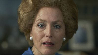 Gillian Anderson as Margaret Thatcher in The Crown Season 4.