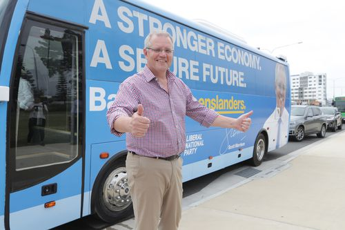 Scott Morrison starts today on the Gold Coast and will travel to various Brisbane constituencies, Rockhampton, Bundaberg and Mackay.