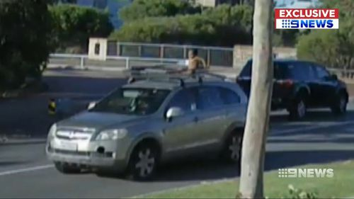 Perth child in nappy car roof racks