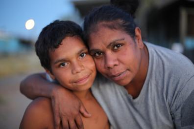 Dujuan and his mother Megan.