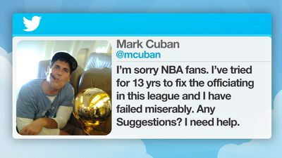 Dallas Mavericks owner Mark Cuban was fined for publicly criticising the NBA referees after the Denver Nuggets beat the Dallas Mavericks.