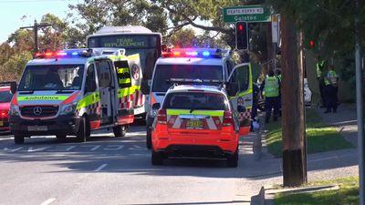 Pedestrian, 81, dies after being hit by bus