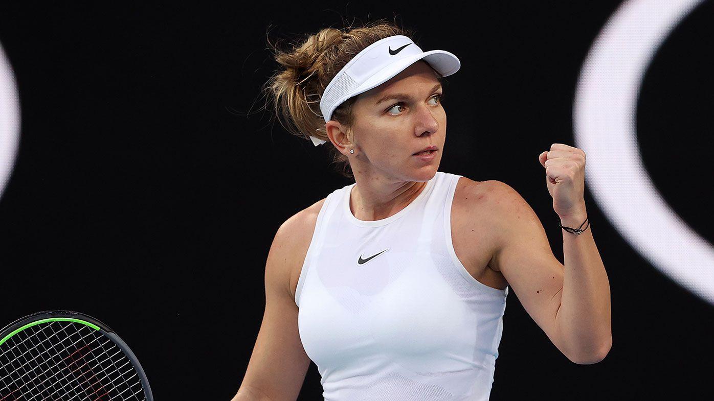 Australian Open: Halep braves falls, sore wrist to make winning start