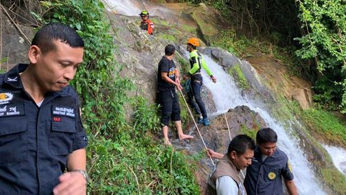 French tourist dies trying to take a selfie at Thai waterfall -- Na Mueang Rescue Unit Koh Samui via AFP