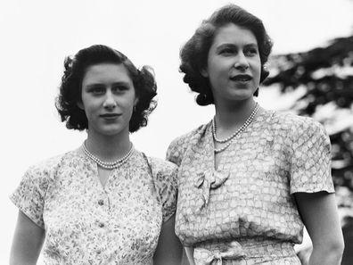 Princess Margaret with Princess Elizabeth.