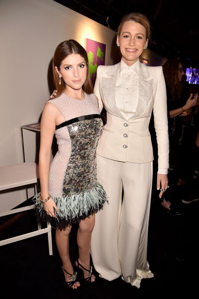 Anna Kendrick and Blake Lively at the 2018 MTV Video Music Awards in New York, August 20.