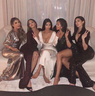 Larsa Pippen, Natalie Halcro, Kim Kardashian, Olivia Pierson, Nicole English