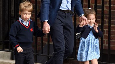 Prince George meets his baby brother, April 2013