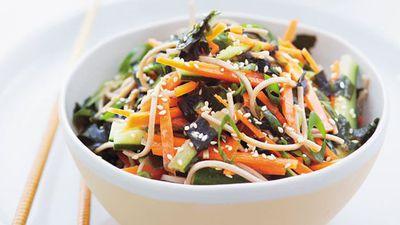 """<a href=""""http://kitchen.nine.com.au/2016/05/20/11/24/soba-salad-with-seaweed-ginger-and-vegetables"""" target=""""_top"""">Soba salad with seaweed, ginger and vegetables</a>"""