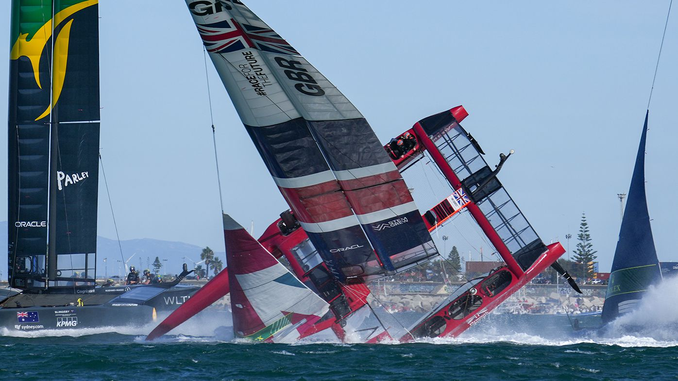 Disaster strikes SailGP event in Spain as two boats capsize, Australia claims victory