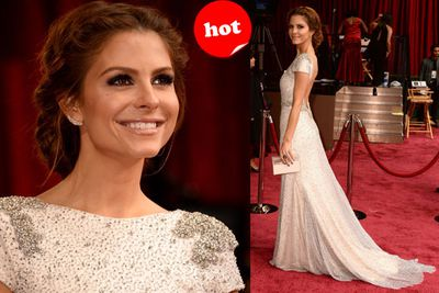 TV Presenter Maria Menounos has reported at her fair share of red carpets, so it's no surprise she knows how to rock a classic, glam Oscars look.