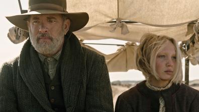 Hanks plays Captain Jefferson Kyle Kidd in the western.
