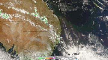 Thunderstorm warnings are in place for parts of NSW and Queensland this evening.