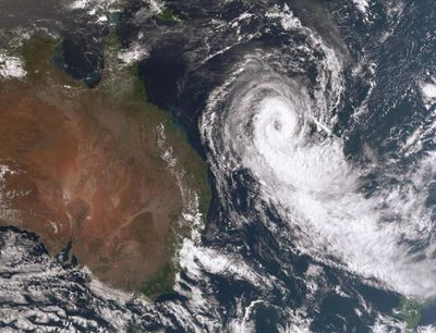 Cyclone Oma is being carefully watched as she teeters close to the east coast of Australia.